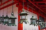 Bronze lanterns at Kasuga Grand shrine (Kasuga-taisha), UNESCO World Heritage Site, Nara Park, Nara, Honshu, Japan, Asia