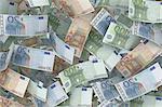 Euro banknotes, illustration.