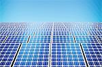 Solar panels, illustration.