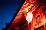 Lantern on building, Shaxi, Yunnan, China