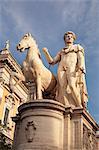 Dioskuri Statue, Piazza del Campidoglio Square, Capitoline Hill, Rome, Lazio, Italy, Europe