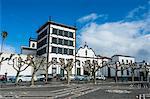 The historic town of Ponta Delgada, Island of Sao Miguel, Azores, Portugal, Atlantic, Europe