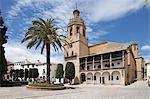 Iglesia de Santa Maria la Mayor in the Plaza Duquesa de Parcent (Town Hall Square), Ronda, Andalucia, Spain, Europe