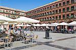 Cafes and restaurants in the Plaza de la Corredera, Cordoba, Andalucia, Spain, Europe