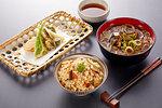 Japanese style meal menu