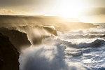 Doolin Cliffs getting hit by giant storm, Doolin, Clare, Ireland