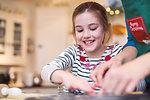 Happy girl baking