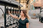 Woman at Monkey Temple, Kathmandu, Nepal