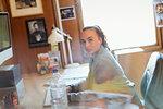Portrait confident creative businesswoman in office