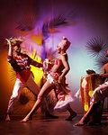 1960s MAN WOMAN DANCING TO CALYPSO CONGA DRUM AFRO-CENTRIC CARIBBEAN MUSIC