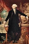 1700s 1796 GIUSEPPE PEROVANI PORTRAIT GEORGE WASHINGTON IN THE ROYAL ACADEMY OF SAN FERNANDO MADRID SPAIN
