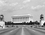 1940s 1950s LINCOLN MEMORIAL VICTORY BRIDGE WASHINGTON DC USA