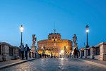 The Mausoleum of Hadrian (Castel Sant'Angelo) (Saint Angelo's Castle) and Saint Angelo Bridge, Parco Adriano, UNESCO World Heritage Site, Rome, Lazio, Italy, Europe