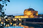 The Mausoleum of Hadrian (Castel Sant'Angelo) (Saint Angelo's Castle), Parco Adriano, UNESCO World Heritage Site, Rome, Lazio, Italy, Europe