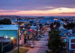 Punta Arenas at dawn, Magallanes Province, Patagonia, Chile, South America