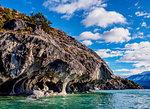 Marble Caves, Santuario de la Naturaleza Capillas de Marmol, General Carrera Lake, Aysen Region, Patagonia, Chile, South America