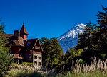 Petrohue Lodge and Osorno Volcano, Petrohue, Llanquihue Province, Los Lagos Region, Chile, South America