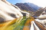 Colorful Verzasca River at Lavertezzo, Verzasca Valley, Canton of Ticino, Switzerland, Italy, Europe