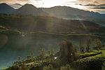 Sunrise moment from Giri's peak, Java, Indonesia, Southeast Asia, Asia