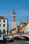 Chiesa San Giorgio dei Greci Campanile, UNESCO World Heritage Site, Venice, Veneto, Italy, Europe