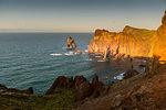 Rocky coast at the Ponta da Sao Lourenco, eastern tip of the island Madeira, Portugal, Atlantic, Europe