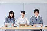 Japanese junior high students with teacher