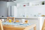 Empty kitchen during breakfast