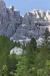 View of Refuge Vandelli, Dolomites, Veneto, Italy