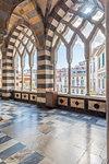 Amalfi, Amalfi coast, Salerno, Campania, Italy. The atrium of the Amalfi Cathedral