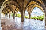 Ravello, Amalfi coast, Salerno, Campania, Italy. The cloister of villa Cimbrone