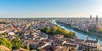View of Adige river and Verona old town. Verona, Veneto, Italy