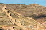 Medieval walls of Albarracin town. Albarracin, Teruel, Aragon, Spain, Europe