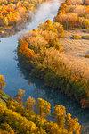 Adda river in the autumn time, Airuno, Adda Nord park, Lecco province, Brianza, Lombardy, Italy, Europe
