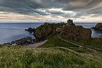 sunset at Dunnottar castle, Aberdeenshire, Scotland, Europe