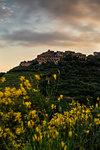 Spring sunset at Volastra, Cinque Terre, municipality of Riomaggiore, La Spezia province, Liguria, Italy, Europe