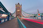 Cars on Tower Bridge, London, Great Britain, UK