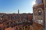 View from the terrace of Contarini Dal Bovolo Palace, Venice, Veneto, Italy
