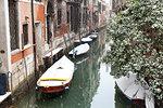 Canals of Venice during a snowfall, Venice, Veneto, Italy