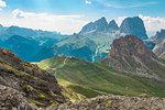 The view from Sentiero delle Creste, Passo Pordoi, Arabba, Belluno, Veneto, Italy, Europe