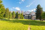 Carezza s Grand Hotel, Val d'Ega / Eggental, Dolomites, Province of Bolzano, South Tyrol, italian alps, Italy