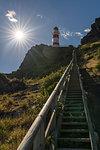 Steps to reach Cape Palliser lighthouse, Cape Palliser, Wellington region, North Island, New Zealand.