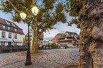 A street of Strasbourg at dawn, Alsace, Grand Est region, Bas-Rhin, France