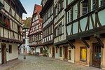 Half timbered houses,Strasbourg, Alsace, Grand Est region, Bas-Rhin, France