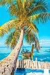 Ao Lo Bakao (Lo Bakao Bay), Ko Phi Phi Don, Krabi Province, Thailand. Traditional longtail boats.