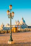 St Mark's waterfront and Salute (St Mary of Health) Basilica, Venice, Veneto, Italy.