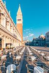 St Mark's Square, Venice, Veneto, Italy.