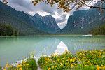 Dobbiaco/Toblach, South Tyrol, Italy. Dobbiaco Lake