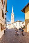 Termeno,Bolzano province,Trentino Alto Adige,Italy View of the square of Termeno.