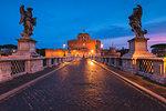 Sant Angelo castle at sunset.Italy, Lazio, Rome
