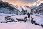 Winter in Adamello park, Lombardy, Brescia province, Italy.